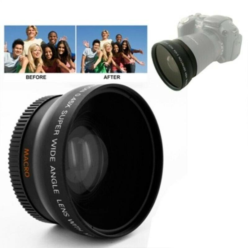 52mm 0.45x Wide Angle Lens Macro Lens for <font><b>NIKON</b></font> D50 D60 D70S D3000 D3100 D3200 D300S D70 <font><b>D90</b></font> <font><b>Camera</b></font> Wide Lens Accessories image