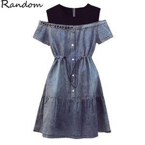 Джинсовое платье 2020, лоскутное сексуальное мини-платье, летняя одежда для женщин, большие размеры 5XL, модное повседневное свободное платье б...