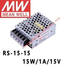 Mean Well RS-15-15 AC/DC 15 W/1A/15 V Одиночный выход импульсный источник питания meanwell интернет магазин