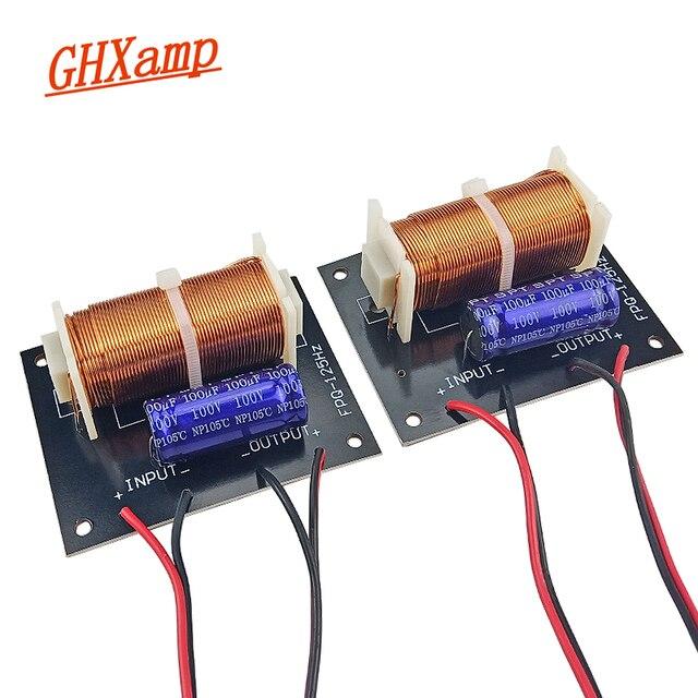 GHXAMP 300 واط مضخم الصوت كروس مع كابل 125 هرتز مكبر الصوت مضخم الصوت مخصص تردد مقسم ل 5 12 بوصة مكبر الصوت المتكلم 2 قطعة