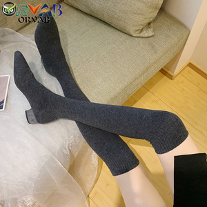 Sock Long Boots Autumn Winter
