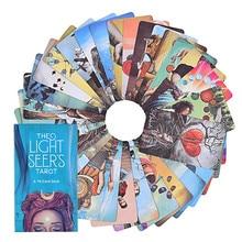 Oráculo del Tarot de Light Seer en inglés, instrucciones en PDF para juegos de mesa familiares, guía, adivinación, juego de cartas