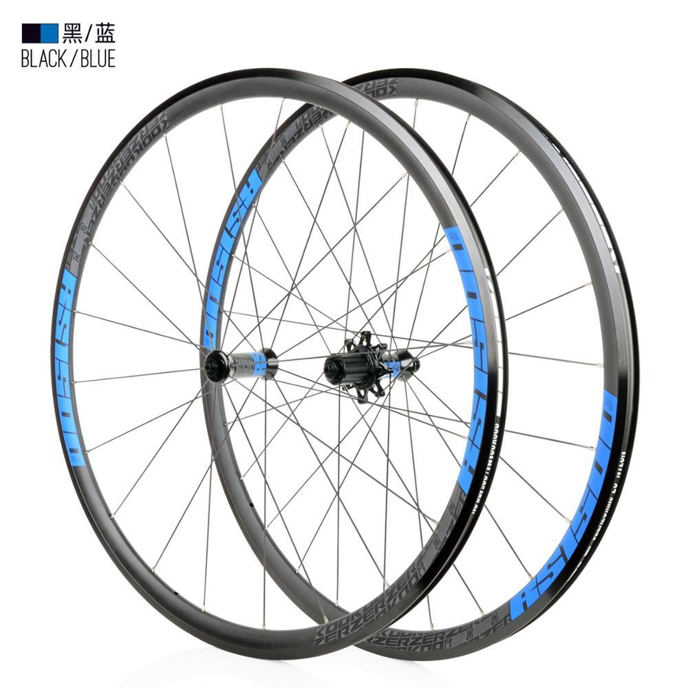 NEW KOOZER RS1500 Road Bike 700C Wheelset Front 2 Rear 4 Bearing 72 Ring 30MM Rim 2:1 Spoke Wheels Ultralight 1500g use RS330(China)