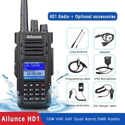 RETEVIS Ailunce HD1 DMR радио цифровая рация (gps) ветчина радио Amador 10 Вт УКВ двухдиапазонный IP67 Водонепроницаемый двухстороннее радио