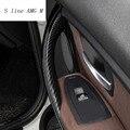 Автомобильный Стайлинг из углеродного волокна  дверные ручки  накладки  наклейки для дверного кармана для BMW 3  4 серии  3GT  F30  F32  F34  аксессуары...
