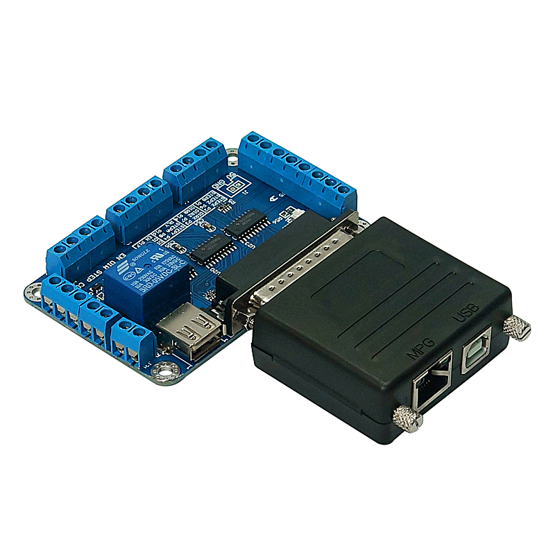 CNC MACH3 USB to Parallel LPT Port Converter Adapter 6 Axis Controller mach3 Parallet Port TO USB for cnc milling machine