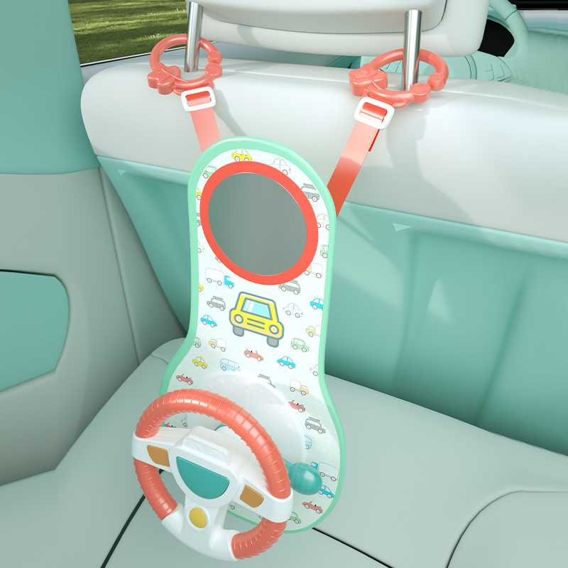Baby Kids Eletric Simulation Steering Wheel Toy Driving Interactive Musical Educational Car Seat Back For Infant Bebe Boys Girls 6