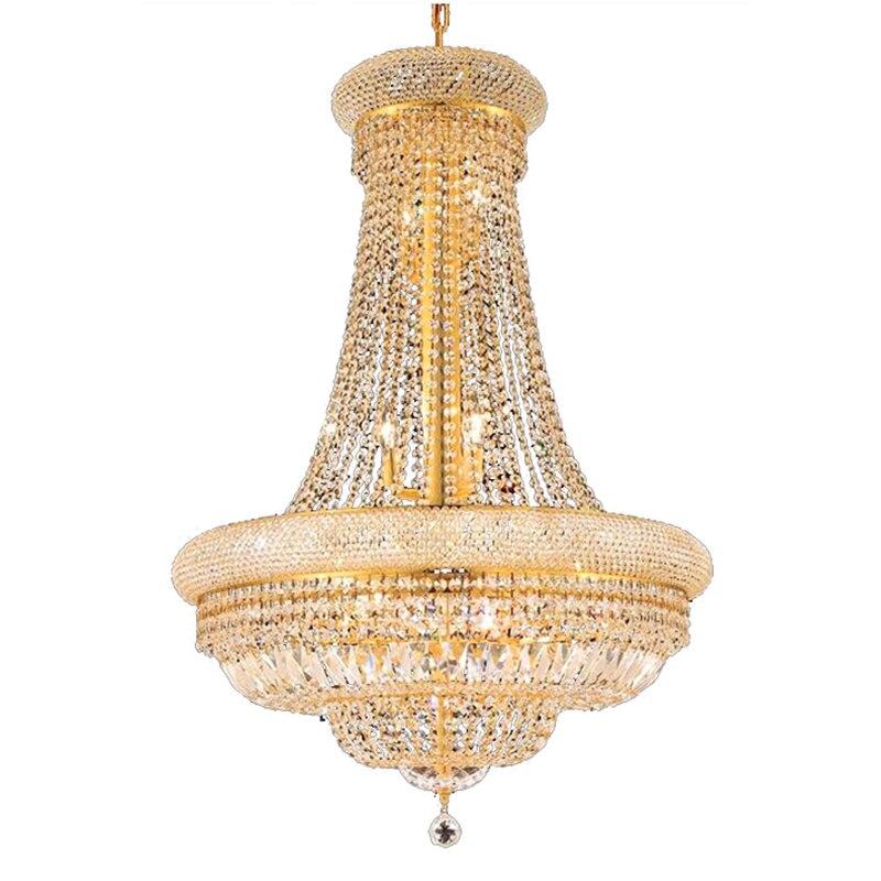 Phube éclairage français Empire or cristal lustre Chrome lustres éclairage moderne lustres lumière + livraison gratuite!