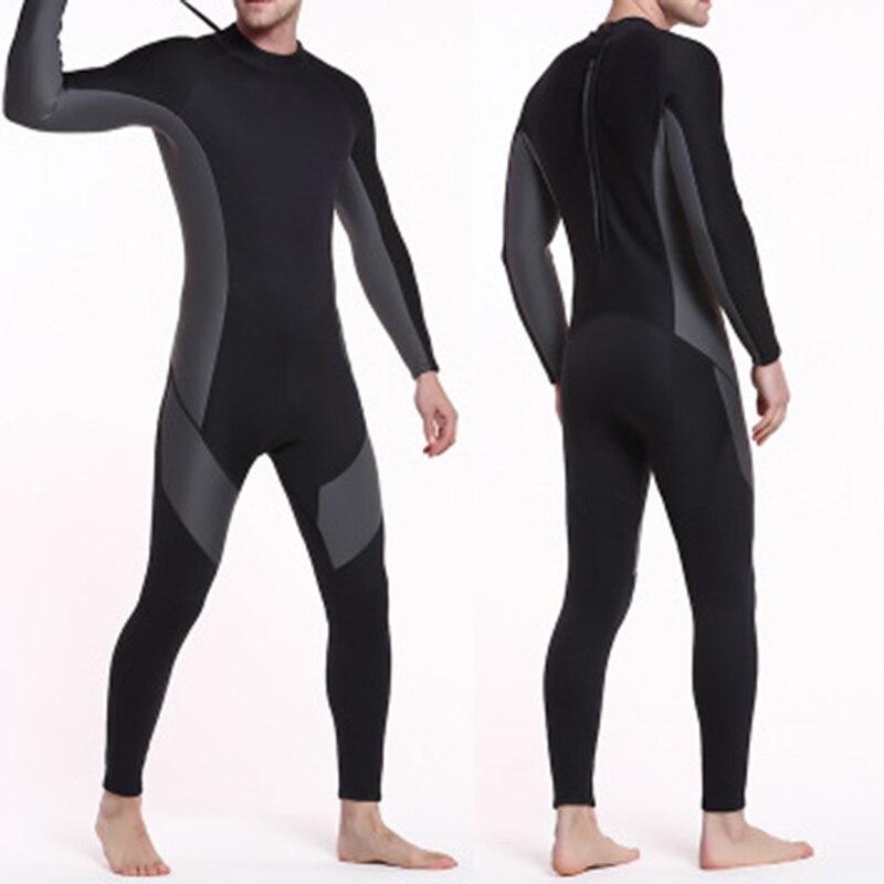Nouveau 3mm épaisseur hommes combinaison fermeture éclair manches longues chaud natation Surf combinaison de plongée LMH66