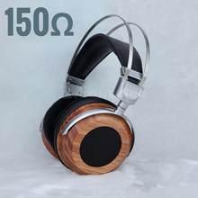 Toneking 150 150ohm de madeira alta-impedância dupla dinâmica nogueira metal suporte de alta fidelidade música estéreo fone de ouvido fone de ouvido n650