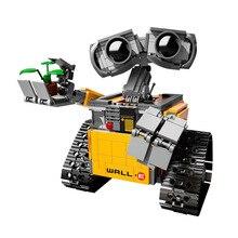 Kids Wall-E Robot Toys 687pcs Idea Technic Figures Model Building Kits Block Bricks Educational Christmas Toy Birthday Gifts18cm