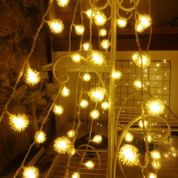 Dandelion Christmas Ball Lights String 3M/6M/10M LED Twinkle Fairy Garland Battery Power Birthday Party Xmas Holiday Decoration
