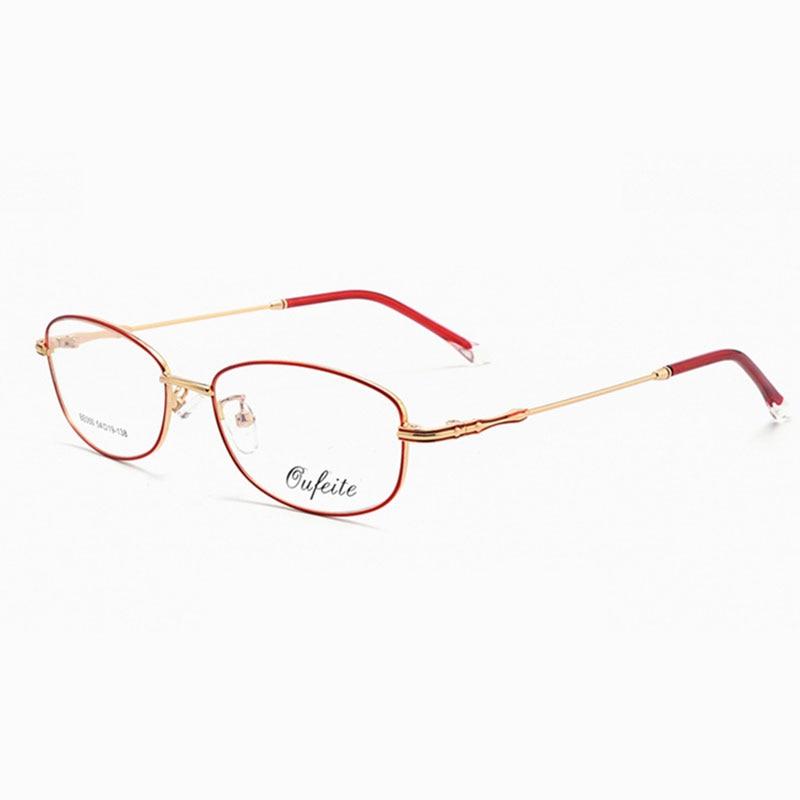 Reven Jate Full Rimless Eyeglasses Frame Optical Prescription Alloy Glasses Frame For Women's Eyewear Female Armacao Oculos 050