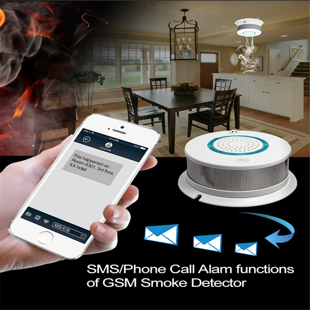 PGST Original Independent WIFI Alarm Smoke Temperature Fire Sensor Sensitive Alarm Smoke Detector For House/Home Security
