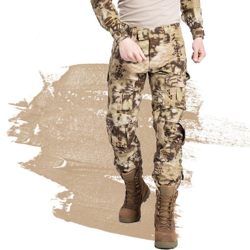 Pantalon tactique militaire hommes Camouflage Cargo Airsoft Paintball pantalon marée armée spécial soldat chasseur travail sur le terrain pantalon de Combat - 4