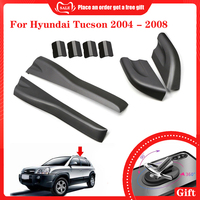 pcmos 8pcs Black Roof Rails Rack End Cover Shell For Hyundai Tucson 2004 2008 Auto Exterior Parts Front Rear Left Right Roof