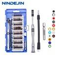 NINDEJIN 60 в 1 Магнитная отвертка Набор бит прецизионная Изолированная маленькая отвертка torx Набор для телефона инструмент для ремонта ноутбук...