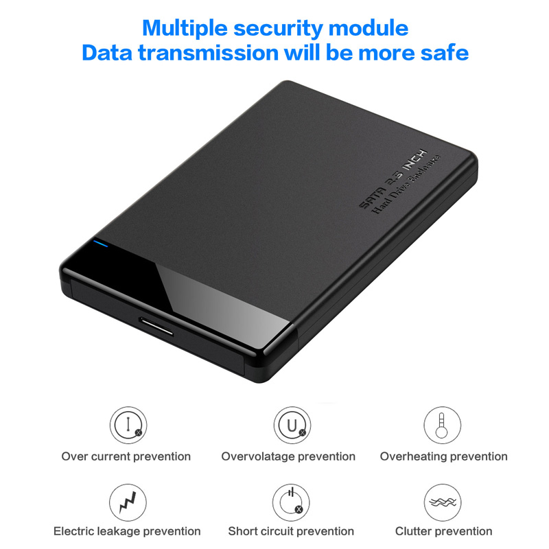 lowest price HDD Case 2 5 SATA to USB 3 0 Adapter Hard Drive Enclosure for SSD Disk HDD Box Type C 3 1 Case HD External HDD Enclosure