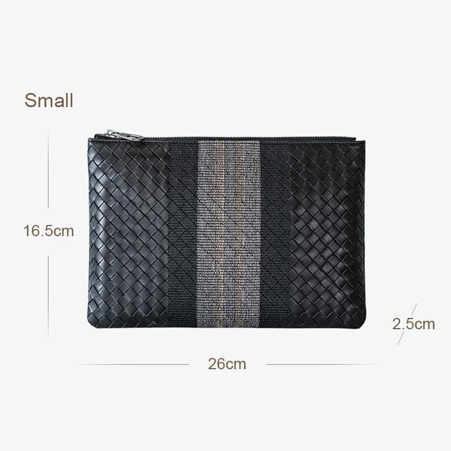 Men Clutch Bag 100 Leather Cowhide Large Capacity Soft Woven Handbags Luxury Brand Design Business Bag New Fashion Spot