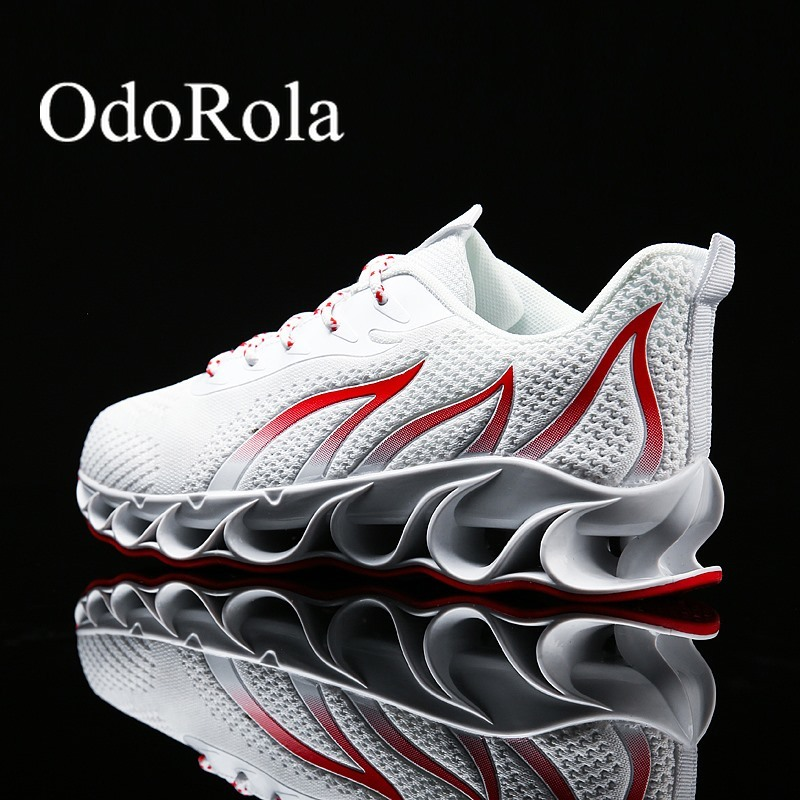 OdoRola Large Size Men Fashion Sneakers Casual Sports Running Shoes Lightweight Street Walking Shoes Mesh Sneakers Leisure Shoes
