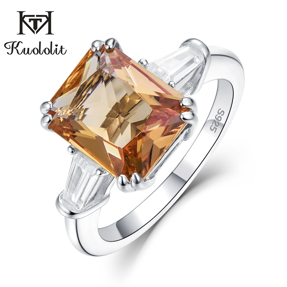 Kuololit Zultanite Diaspore Gemstone Rings For Women Solid 925 Sterling Silver Color Change Wedding Bride Gifts Fine Jewelry