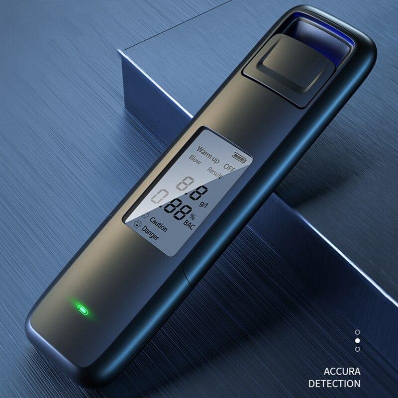 Портативный Бесконтактный Алкотестер с цифровым дисплеем, высокоточный анализатор дыхания с USB-зарядкой