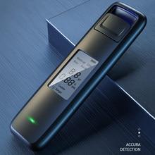 Novo portátil não-contato álcool respiração tester com tela de exibição digital usb recarregável bafômetro analisador de alta precisão
