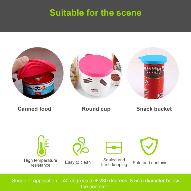 1Pcs 3 In 1 Reusable Food Storage Keep Fresh Tin Cover Cans Cap Pet Can Box Cover Silicone Can Lid Hot Kitchen Supplies Dropship 4