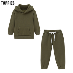 Toppies Fashion Child Set matching hoodies Two Piece Set Family Pullover Sweatshirts 2020 clothes for girls boys suits