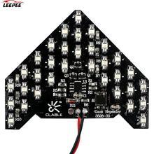 2pcs הפיכת אות אור מנורת רכב סטיילינג 33 SMD חץ צורת LED לוח רכב LED הפעל אינדיקטורים צהוב צד מראה