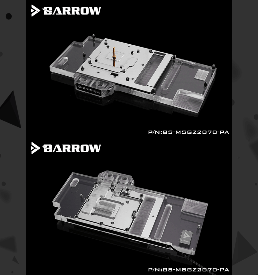 Barrow BS-MSGZ2070-PA, LRC 2.0 Full Cover Graphics Card Water Cooling Blocks, For MSI RTX2070 GAMING Z 8G/X 8G, Armor 8G