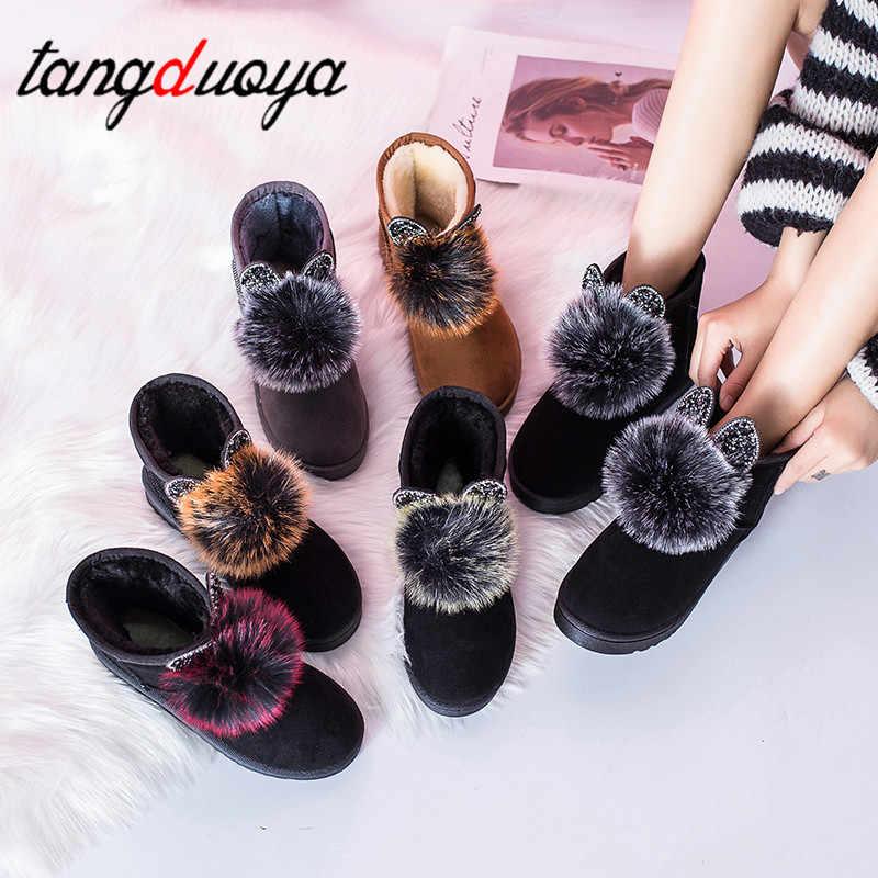 Ayakkabı kadın çizmeler kadın ayakkabıları kar ayak bileği kışlık botlar avustralya ayakkabı kadın botları deri yağmur botas mujer tenis mini bootscute