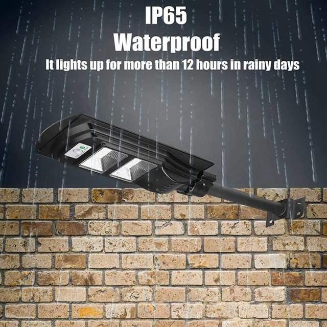 AUGIENB 120W/240W/360W LED Solar Lamp Wall Street Light Super Bright Radar PIR Motion Sensor Security Lamp for Outdoor Garden 3