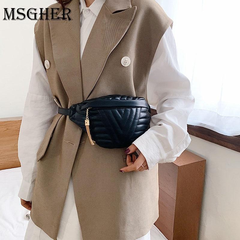 MSGHER Small Simple Crossbody Bags For Women 2020 Tassel Shoulder Messenger Bag Female Fashion Handbags And Purses