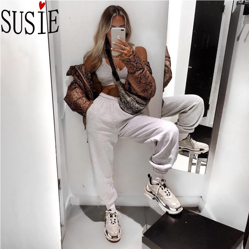 Winter Pants Jogger Hip Hop Streetwear Women Clothes Loose Sweatpants Fleece Warm Trousers High Waist Plus Size Heram Pants