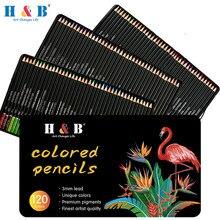 120 núcleos lápis de cor de óleo profissional definir lápis de esboço não-tóxico de madeira macia cor brilhante lápis artista