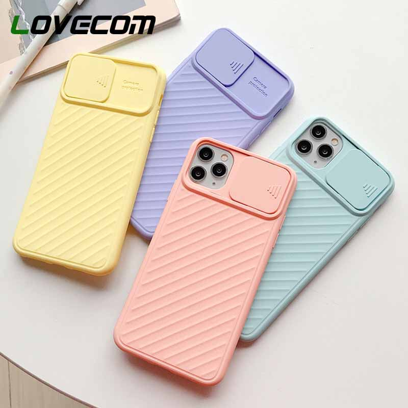 LOVECOM Camera Protection Shockproof Phone Case For iPhone 12 11 Pro Max XR XS Max 7 8 Plus X Soft Silicon Airbag Back Cover