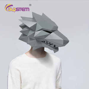 3D маски для лица, бумажная маска для рукоделия, крутые вечерние игрушки для косплея, игрушки для розыгрышей, костюм для Хэллоуина, вечерние п...