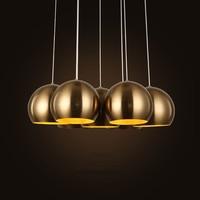 Vintage Gold Loft Chandelier Lighting Restaurant light Bar Coffee shop Pendant Lamp E27 LED 110/220V Home Hanglamp Warm light