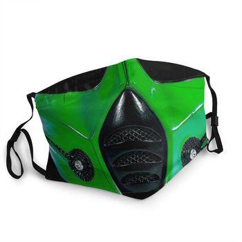 Reptile Mortal Kombat Non-Disposable Mouth Face Mask Scorpion Sub Zero Game Dust Protection Cover Respirator