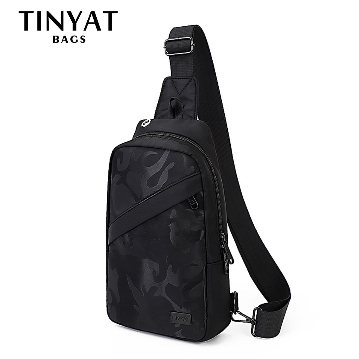 TINYAT sac à bandoulière pour 7.9 pad noir décontracté fonctionnel femmes sac Pack double écouteur jack épaule sacs de messager Pack sac