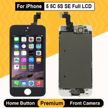 цена на Full Set LCD Display for iPhone 5 5C 5S SE 3D Screen Touch Digitizer Assembly Replacement Front Camera Earpiece Speaker A1528