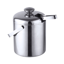 Ktv-Tool Tongs Ice-Bucket-Strainer Walled-Bar Insulated-Container Stainless-Steel Party