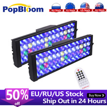 "2PCS PopBloom Aquarium Led Lighting Lamp Led Aquarium Reef Led Light Aquarium Lighting Marine Aquarium 120cm/48"" Remote Control"
