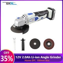 Amoladora angular NEWONE de 12V con 2000mAh Lithium-Ion M10 herramienta eléctrica inalámbrica de corte y pulir la máquina para el hogar DIY
