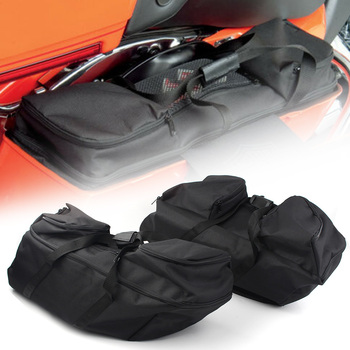 2x Motorcycle Drag Specialties Saddlebag Liners Hard Saddle Bags For Harley Touring 2014 2015 2016 2017 2018 2019