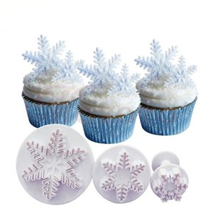 Snowflake Cake Mold 3pcs Cake Mold Hydrangea Fondant Cake Tools