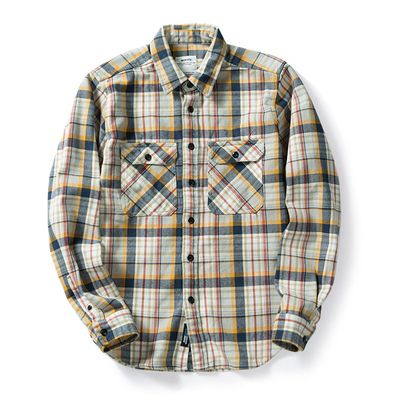 100% cotton heavy weight retro vintage classic red black spring autumn winter long sleeve plaid shirt for men women 15