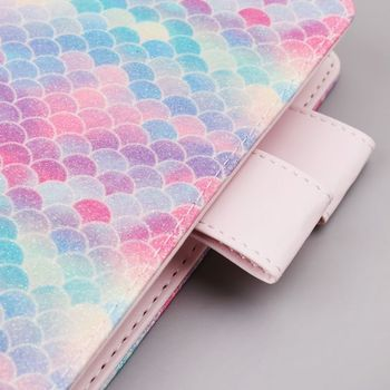 цена на A5 A6 Fish Scale Sequin Notebook Diary Weekly Planner Journal Agenda Organizer Travelers Faux Leather Cover School Supplies