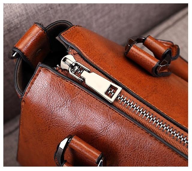 100% Genuine leather Women handbags Cow Leather Bag Ladies Genuine Leather Handbags Big Women Bags Large Vintage Female  Office 6